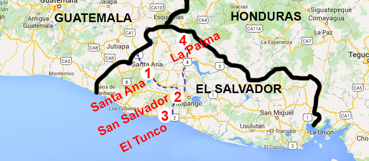 El Salvador Map